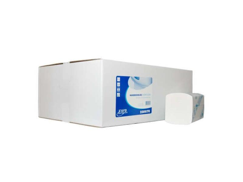 Euro Products Euro Products 2 laags Vouwhanddoekjes Euro Interfold cellulose,