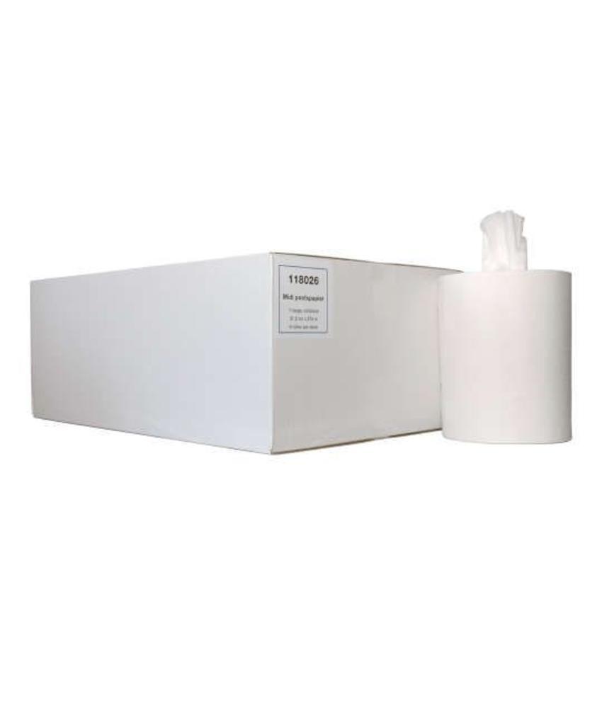 Euro Products 1-laags Midi poetspapier Cellulose kokerloos