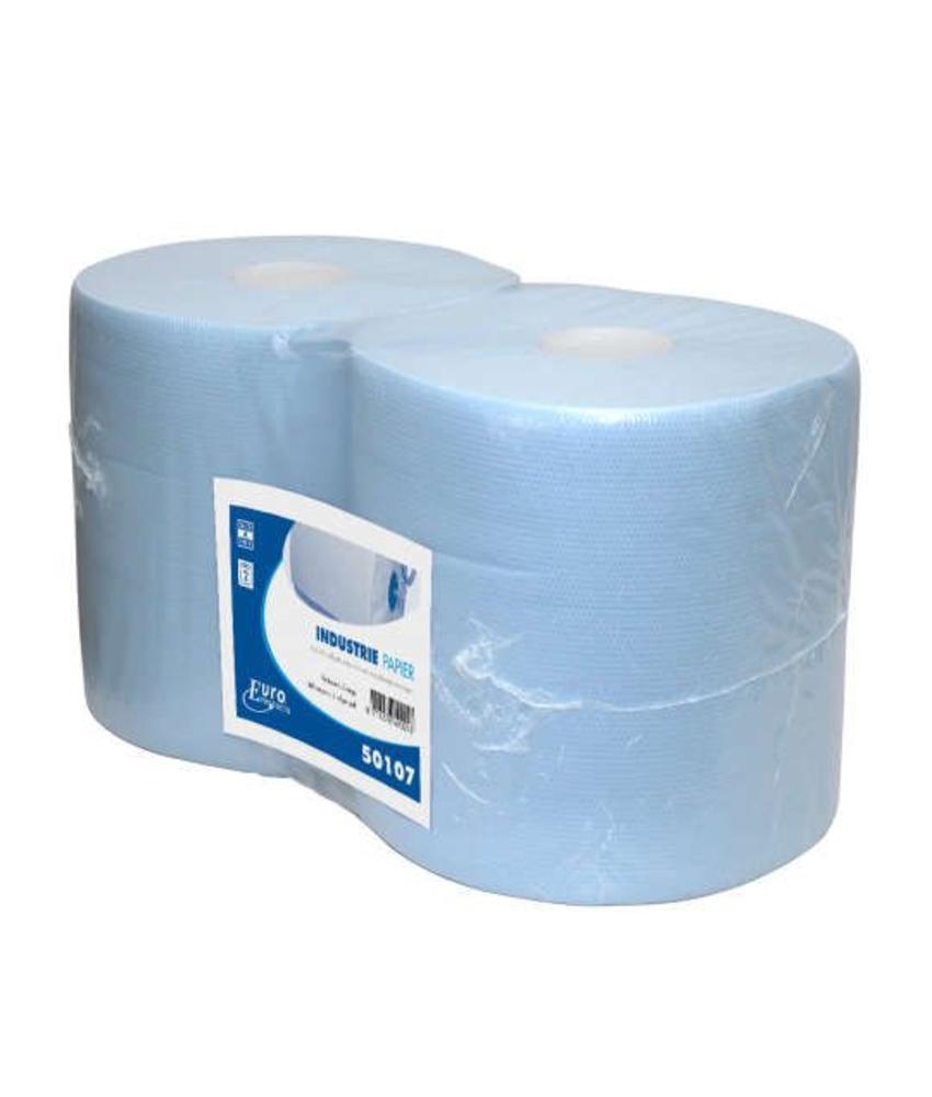 Euro Products 2-laags Industriepapier blauw cellulose verlijmd