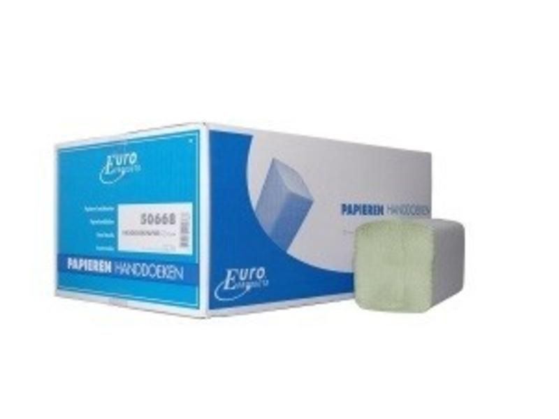 Euro Products Euro Products Z-vouw, 2 laags Vouwhanddoekjes groen