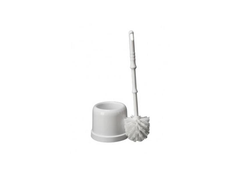 Eigen merk Plastic toiletborstelgarnituur MIDI - wit