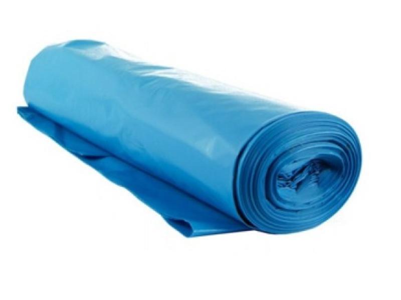 Eigen merk Containerzakken 65/20 x 125cm, T70, Blauw (10 rollen)