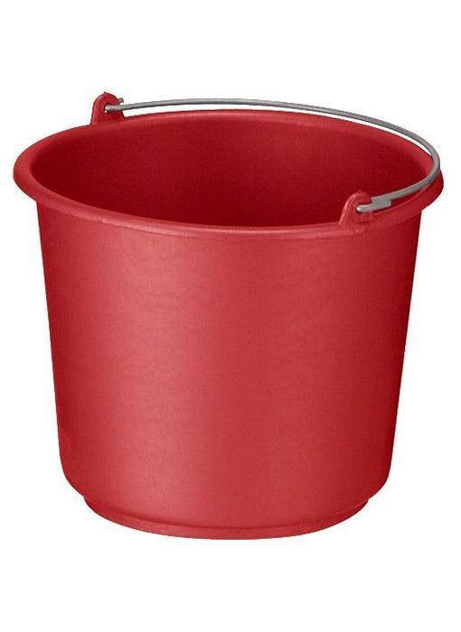 Bouw/glazenwassersemmer rood