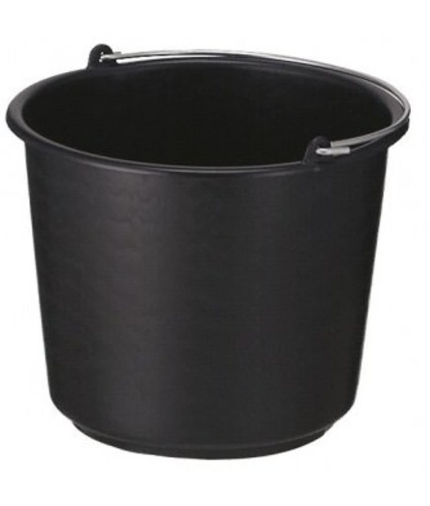 Bouw/glazenwassersemmer zwart
