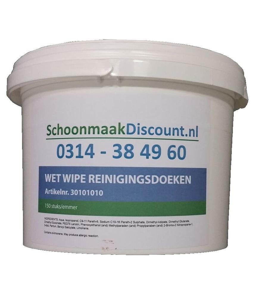 Wet Wipe Handcleaner, emmer 150 doeken