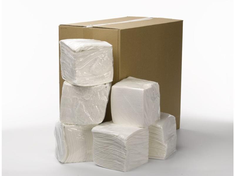 Universele papieren poetsdoek wit