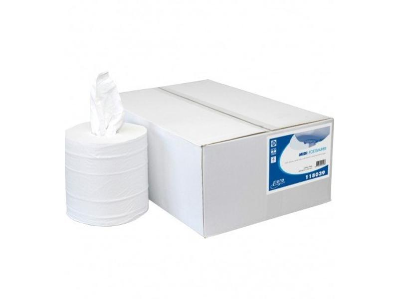 Euro Products Euro Products 2-laags Midi poetspapier Cellulose kokerloos