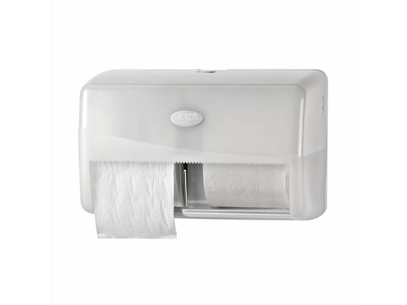 Euro Products Euro Products Pearl white duo toiletrolhouder