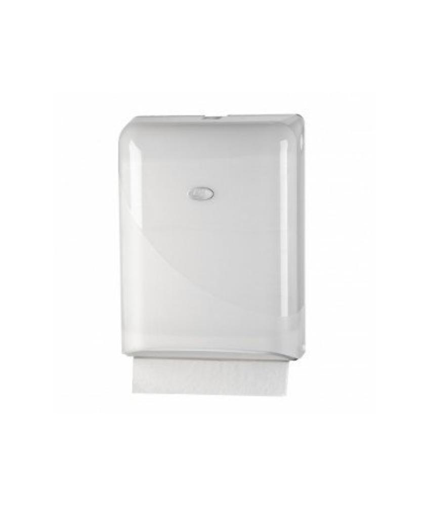 Euro Products Pearl White Handdoekdispenser - Interfold, Z-fold