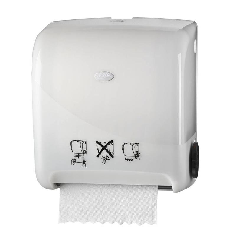 Euro Products Pearl White Handdoekautomaat - Autocut Euro Matic