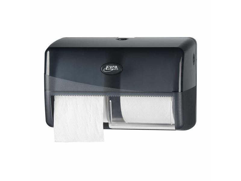 Euro Products Euro Products Pearl Black Duo toiletrolhouder - Compact, traditioneel