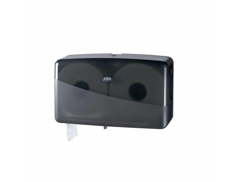 Euro Products Euro Products Pearl Black Jumbo toiletrolhouder - Duo mini