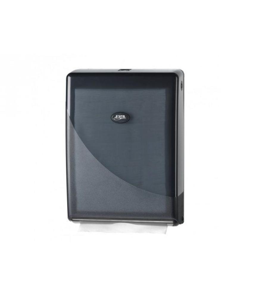 Euro Products Pearl Black Handdoekdispenser - Multifold, C-fold