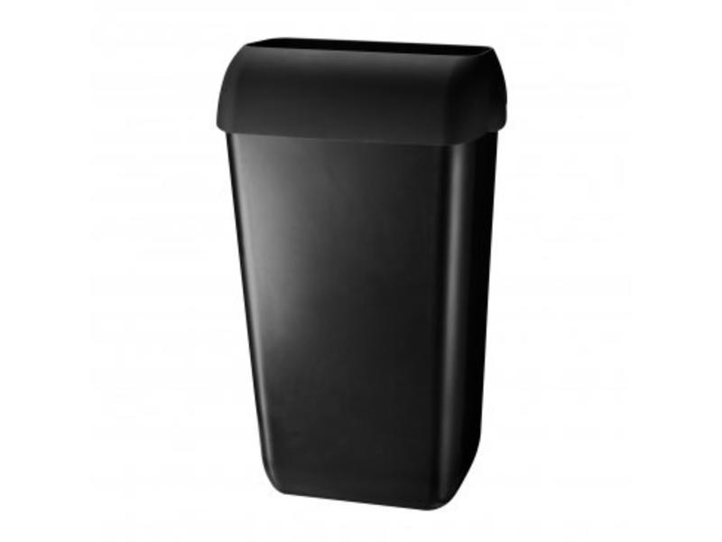 Euro Products Euro Products Afvalbak kunststof zwart 23 ltr met open inworp