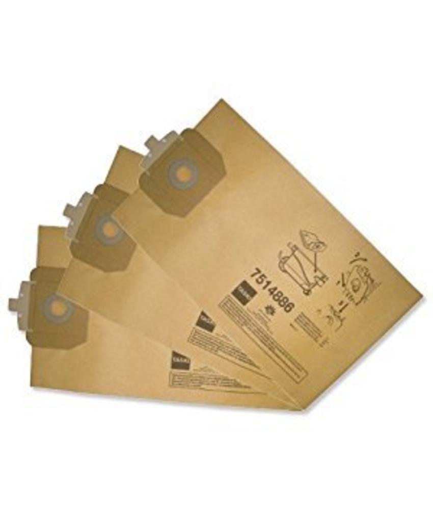 Dubbelfilter stofzak papier - 10 stuks