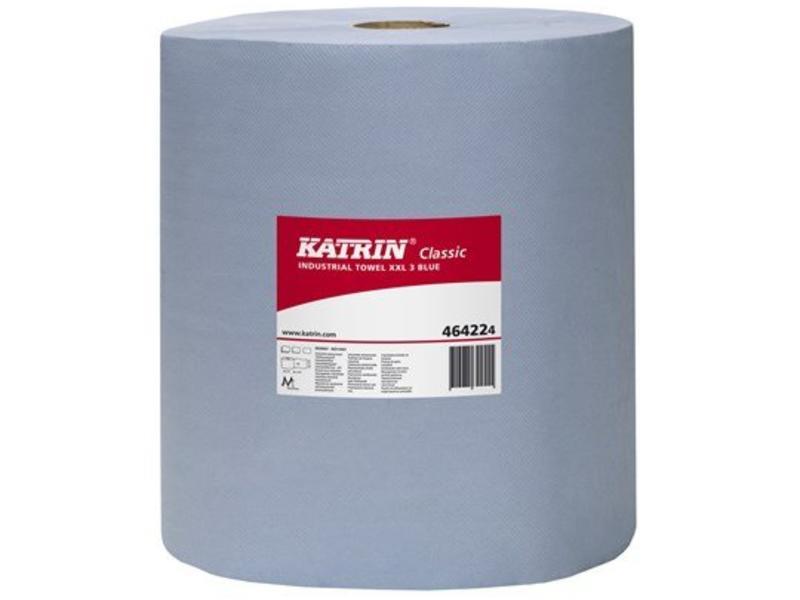 Katrin Classic XXL poetsrol 3-laags blauw 190 meter