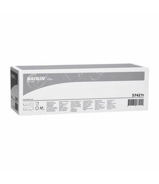 Katrin Plus poly box, wit, 430x325mm, 10 rol x 75 vel