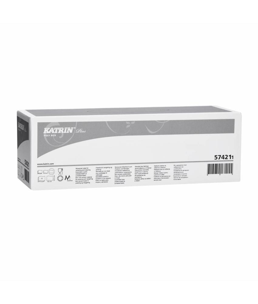 Plus poly box, wit, 430x325mm, 10 rol x 75 vel