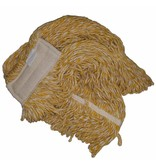 Eigen merk Strengenmop katoen geel/wit - 450 gram