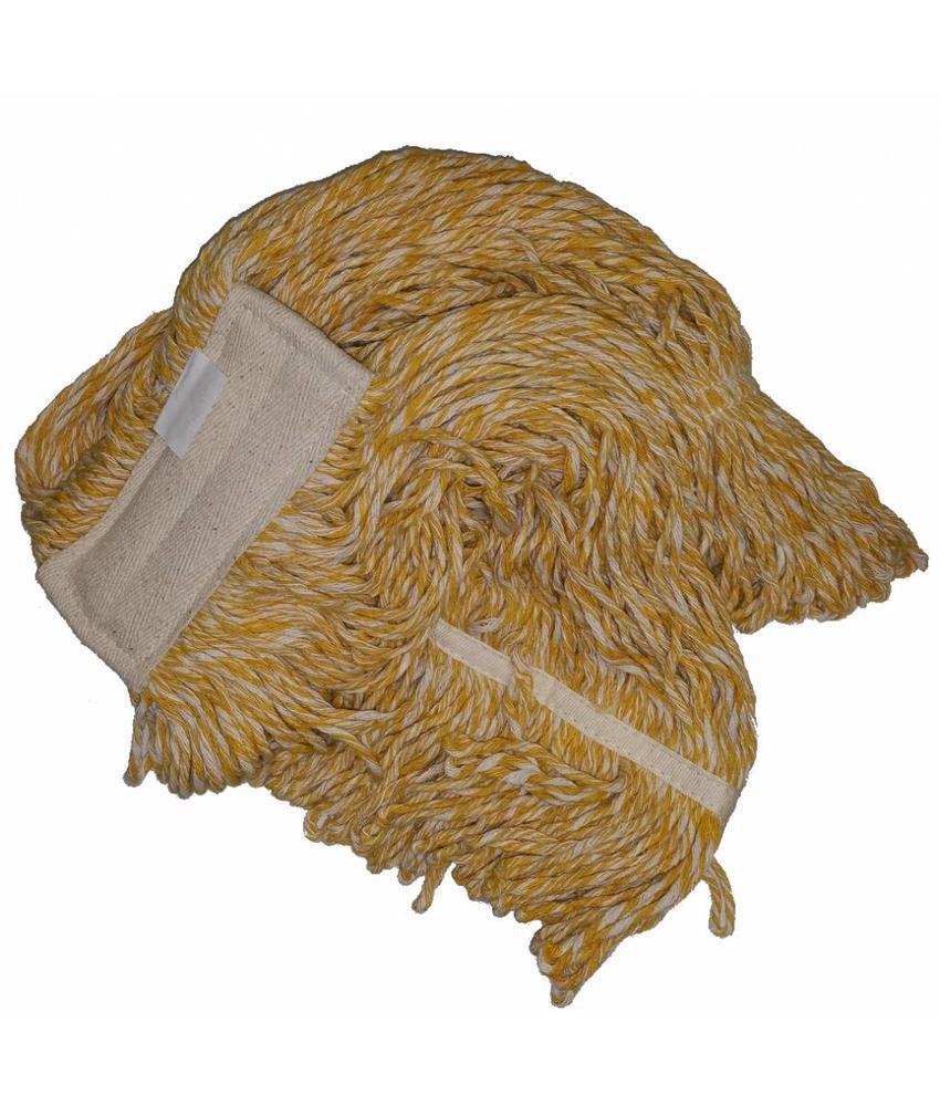 Strengenmop katoen geel/wit - 450 gram