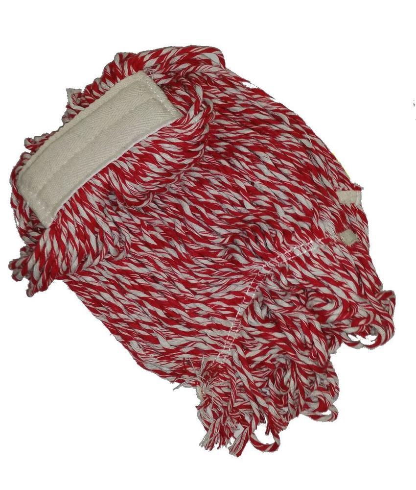 Strengenmop katoen rood/wit - 450 gram