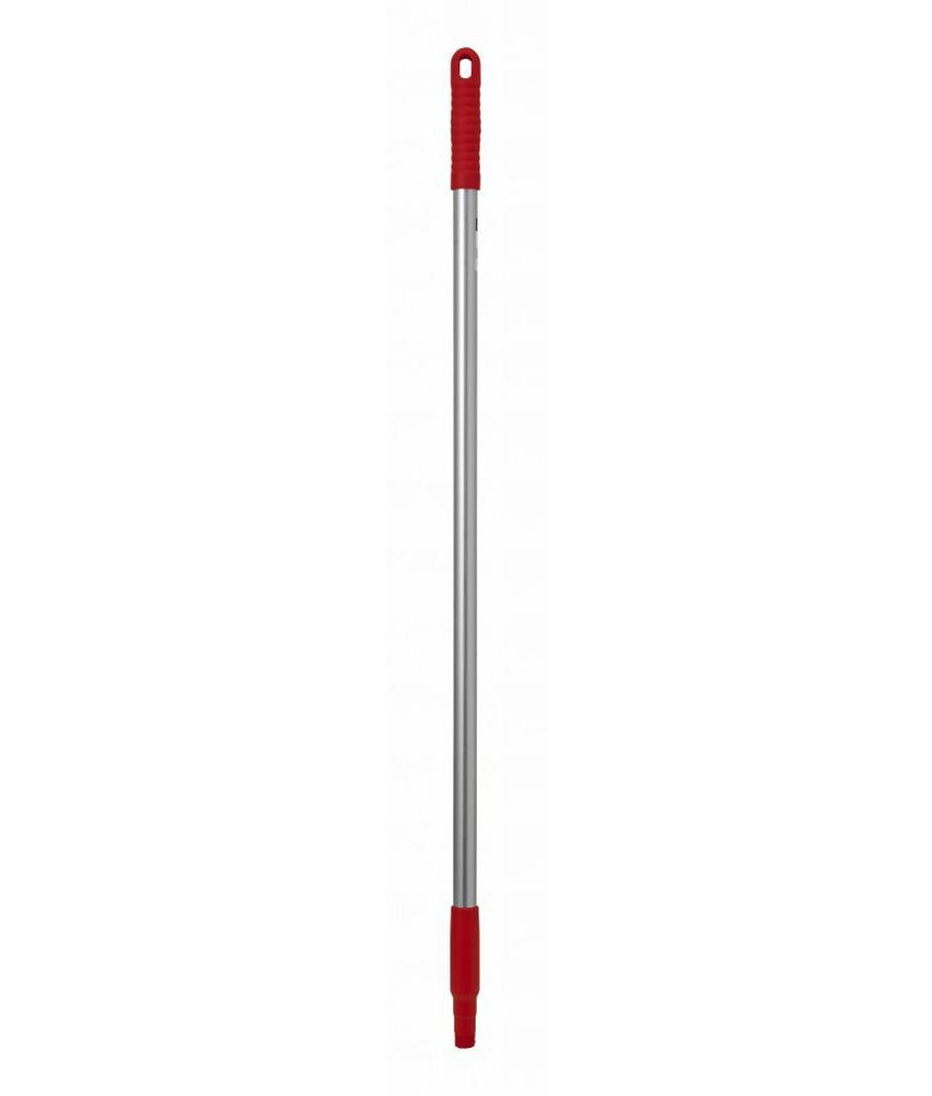 Steel Aluminium ø 23,5 mm, 143cm met Frans schroefdraad - rood