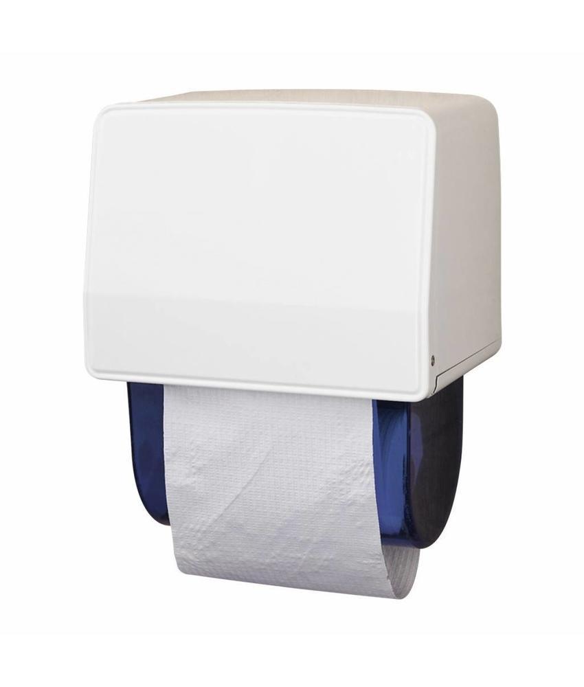 Dispenser Dudley Handdoekrolautomaat, staal, wit gemoffeld