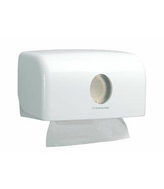 Kimberly Clark AQUARIUS* Gevouwen Handdoek Dispenser - MultiFold / Small - Wit