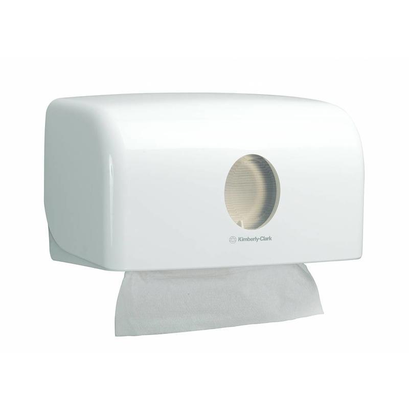 AQUARIUS* Gevouwen Handdoek Dispenser - MultiFold / Small - Wit