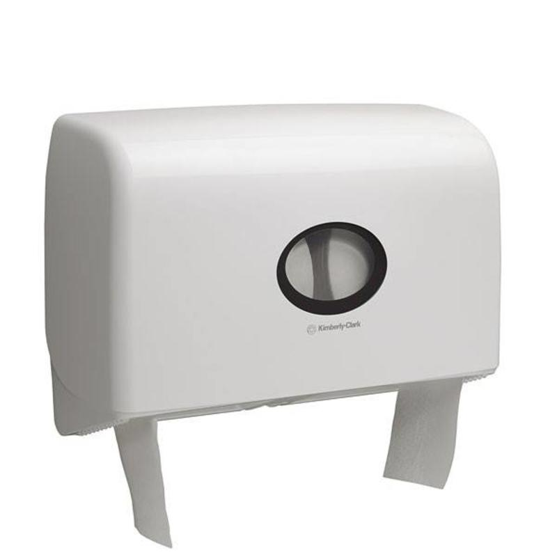 AQUARIUS* Toilettissue Dispenser - Mini Jumbo, Duo - Wit
