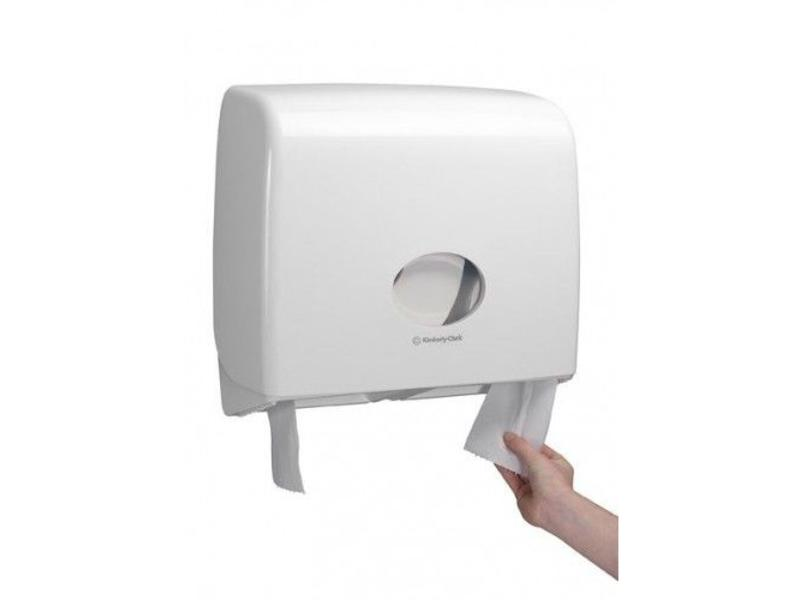 Kimberly Clark AQUARIUS* Toilettissue Dispenser - Jumbo Non-Stop - Wit