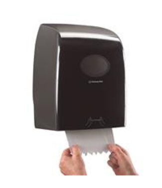 Kimberly Clark AQUARIUS* Rolhanddoekdispenser - 25 cm - Zwart