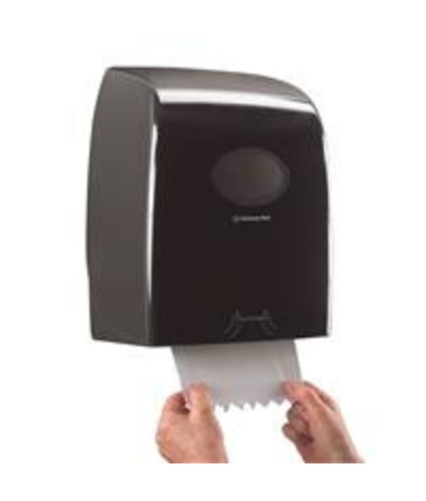 AQUARIUS* Rolhanddoekdispenser - 25 cm - Zwart