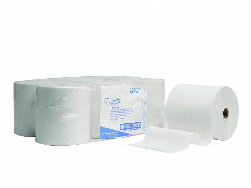 Kimberly Clark SCOTT® PERFORMANCE Handdoeken - Rol - Wit