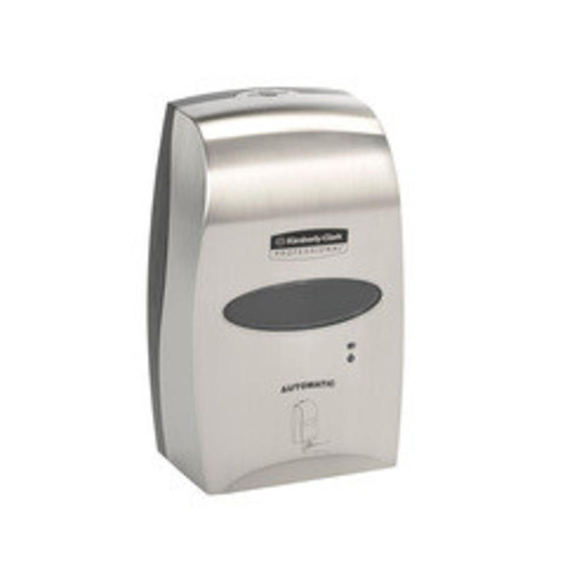 KIMBERLY-CLARK PROFESSIONAL* Elektronische No Touch Zeepdispenser - Cassette / 1.2 Ltr - Geborsteld Metalen