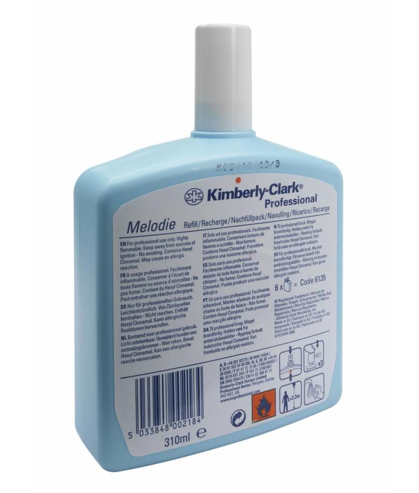 KIMBERLY-CLARK PROFESSIONAL* MELODIE Melodie Luchtverfrisser - Navulling / 310 ml - Transparant
