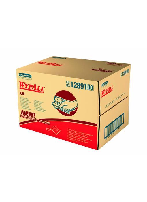 WYPALL* X90 Doeken - Draagdoos - Blauw