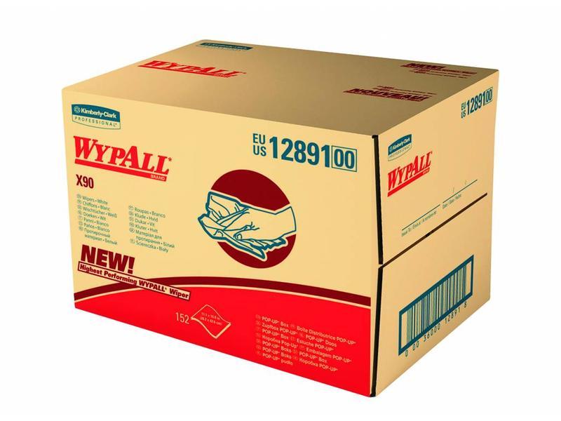 Kimberly Clark  WYPALL* X90 Doeken - Draagdoos - Blauw