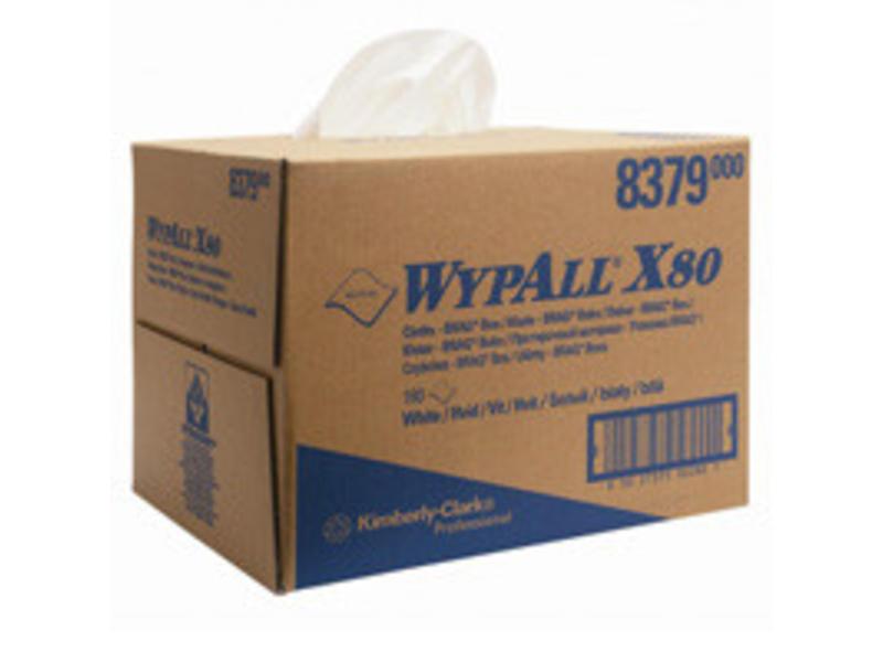 Kimberly Clark  WYPALL* X80 Doeken - Draagdoos - Wit