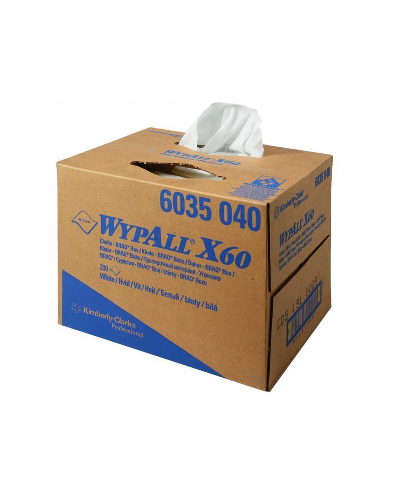 WYPALL* X60 Doeken - Draagdoos - Wit