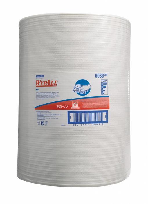 WYPALL* X60 Doeken - grote rol - Wit