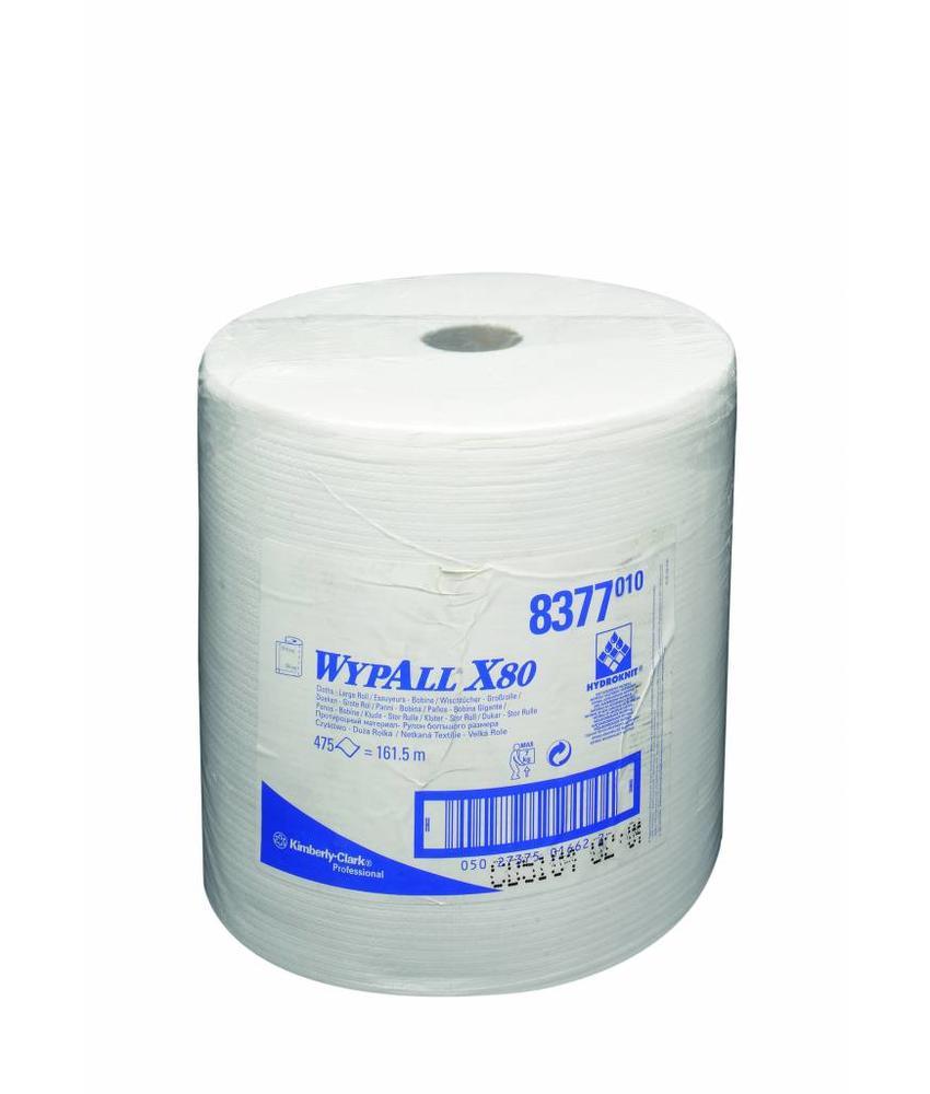 WYPALL* X80 Doeken - grote rol - Wit