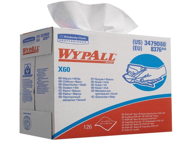 Kimberly Clark WYPALL* X60 Doeken - POP-UP Doos - Wit