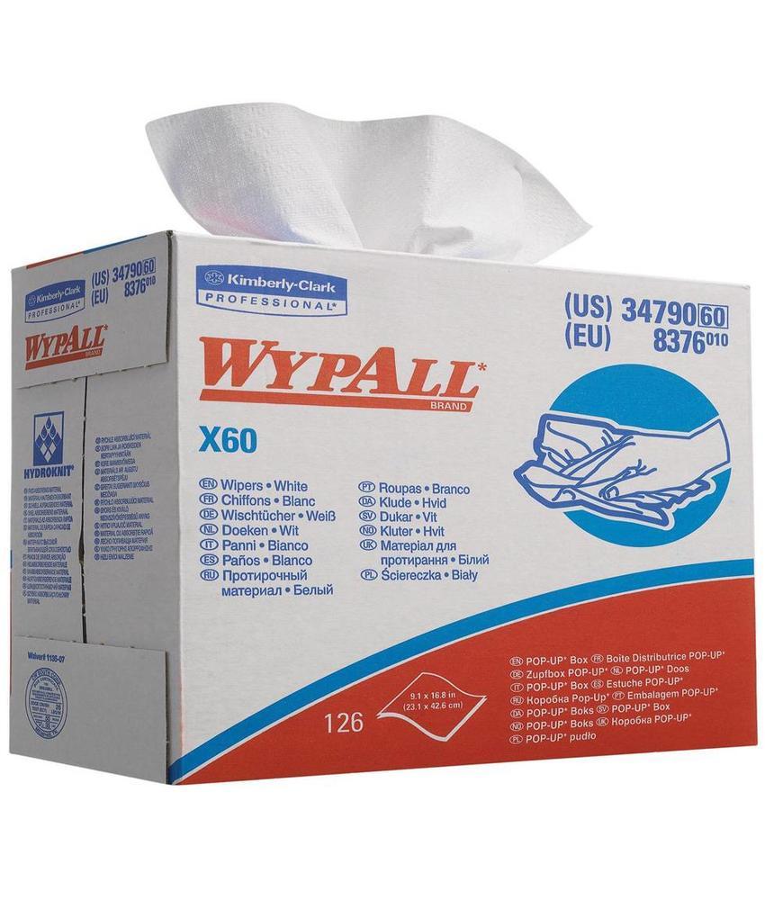 WYPALL* X60 Doeken - POP-UP Doos - Wit