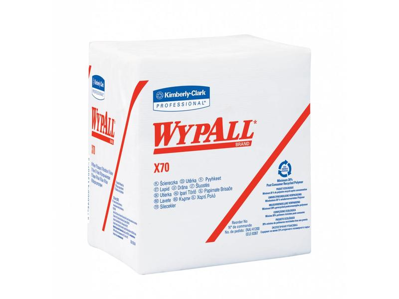 Kimberly Clark WYPALL* X70 Doeken - 1/4 Gevouwen - Wit