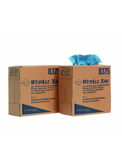 WYPALL* X80 Doeken - Staalblauw