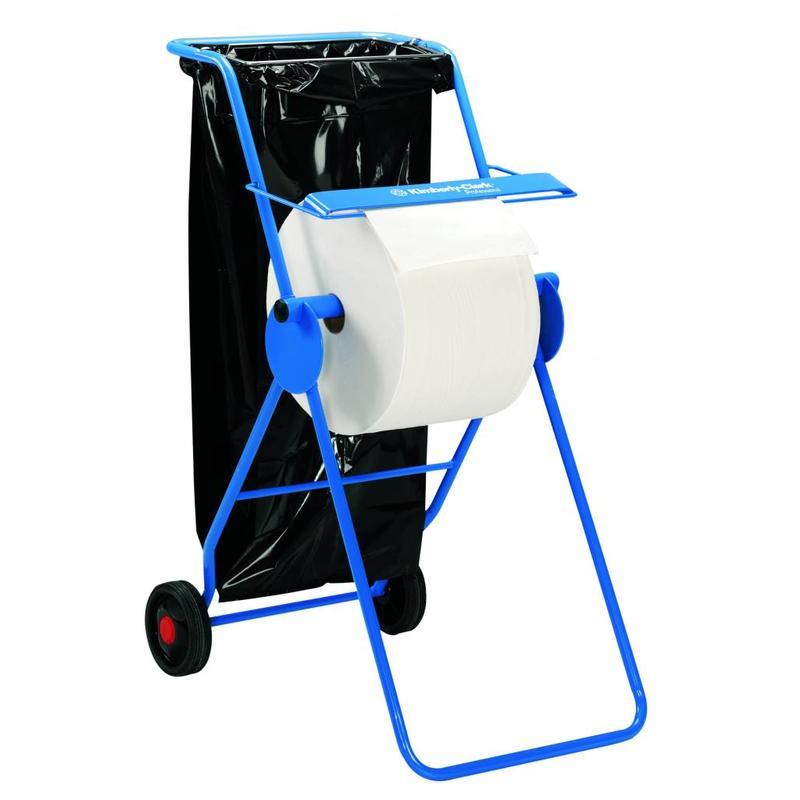 KIMBERLY-CLARK PROFESSIONAL* Mobiele Poetsdoeken Dispenser - grote rol - Blauw