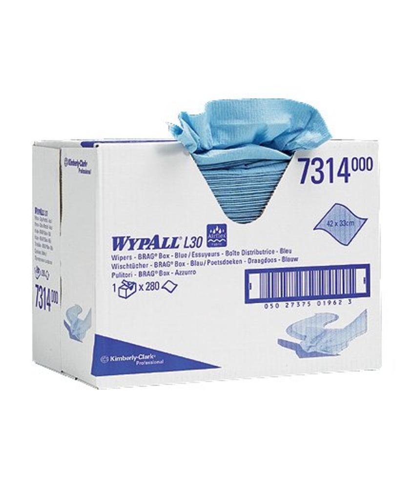 WYPALL* L30 Poetsdoeken - Draagdoos - Blauw