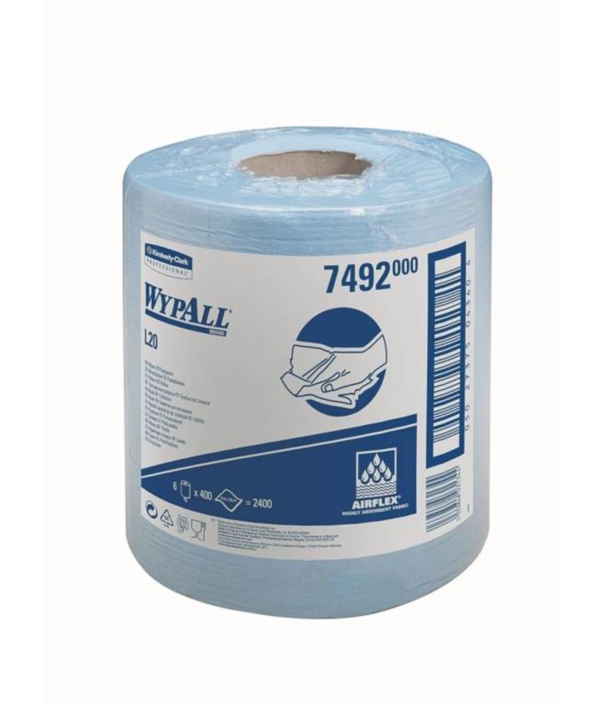 WYPALL* L20 Poetsdoeken - Centrefeed Rol - Blauw