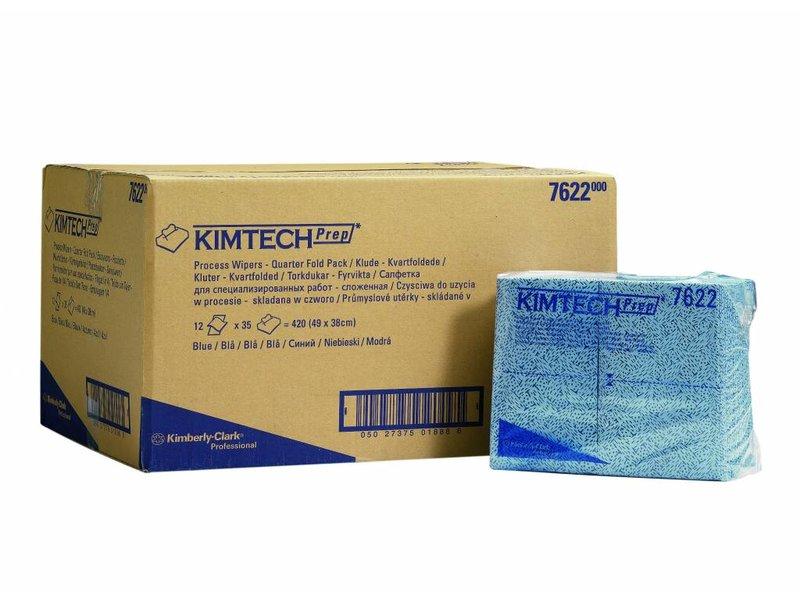 Kimberly Clark  KIMTECH* Poetsdoeken - 1/4 Gevouwen - Blauw